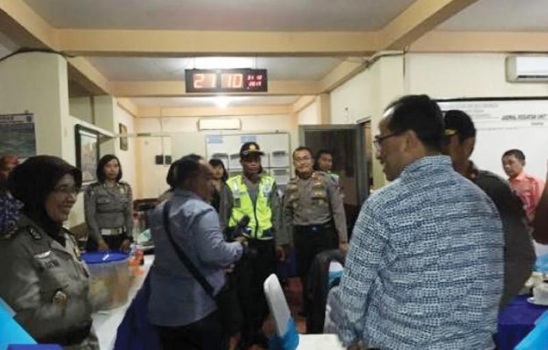 Malam Pergantian Tahun, Menhub Beri Semangat Kepada Tim Gabungan Matari TNI Polri