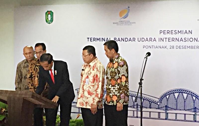 Presiden Resmikan Operasional Bandara Internasional Supadio